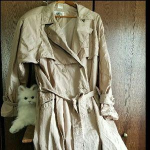🆕 100% nylon water repellent classic trench coat